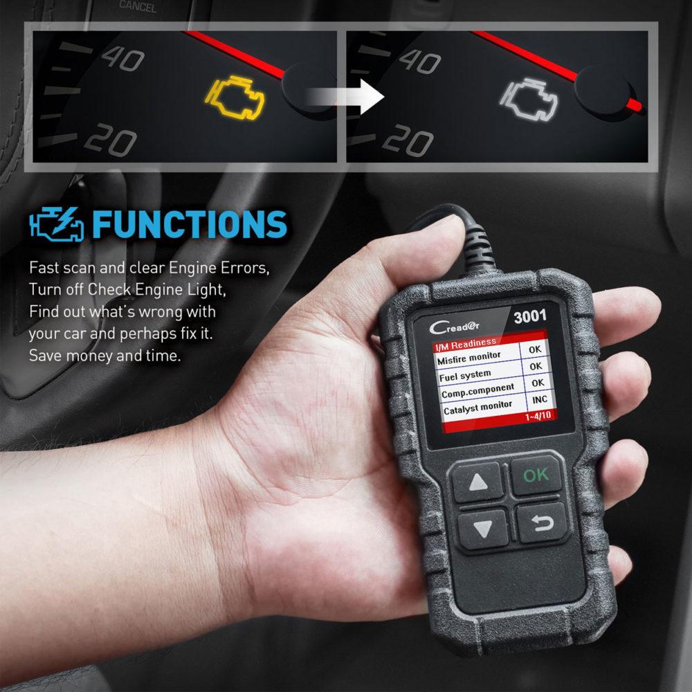 Launch Creader CR3001 OBDII Scanner & Automotive Diagnostic Tool 3