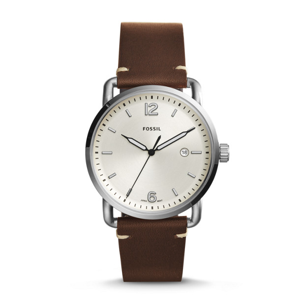 Fossil Men's Commuter Brown Leather Strap Watch - FS5275 1