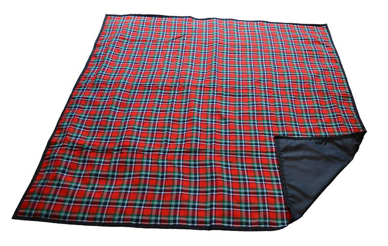 Dial-a-Picnic - Checked Picnic Blanket With Carry Bag - Red 1