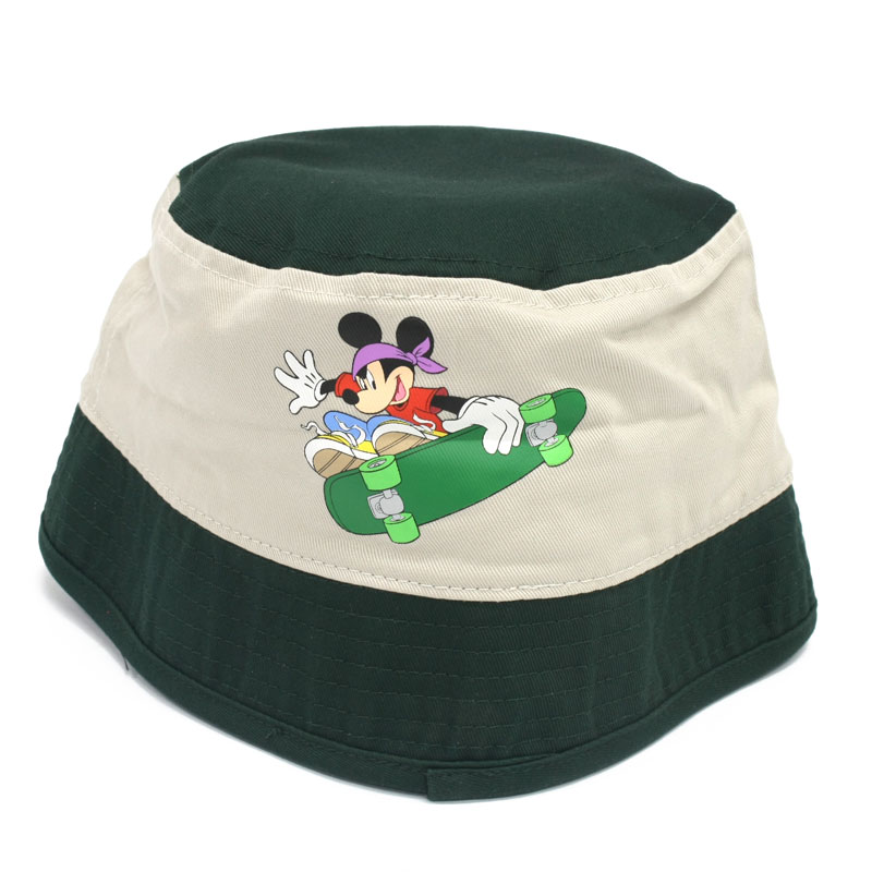 Disney Mickey Skaterboy Canvas Sporty Hat 2-Tone Large - Green & Khakhi 2