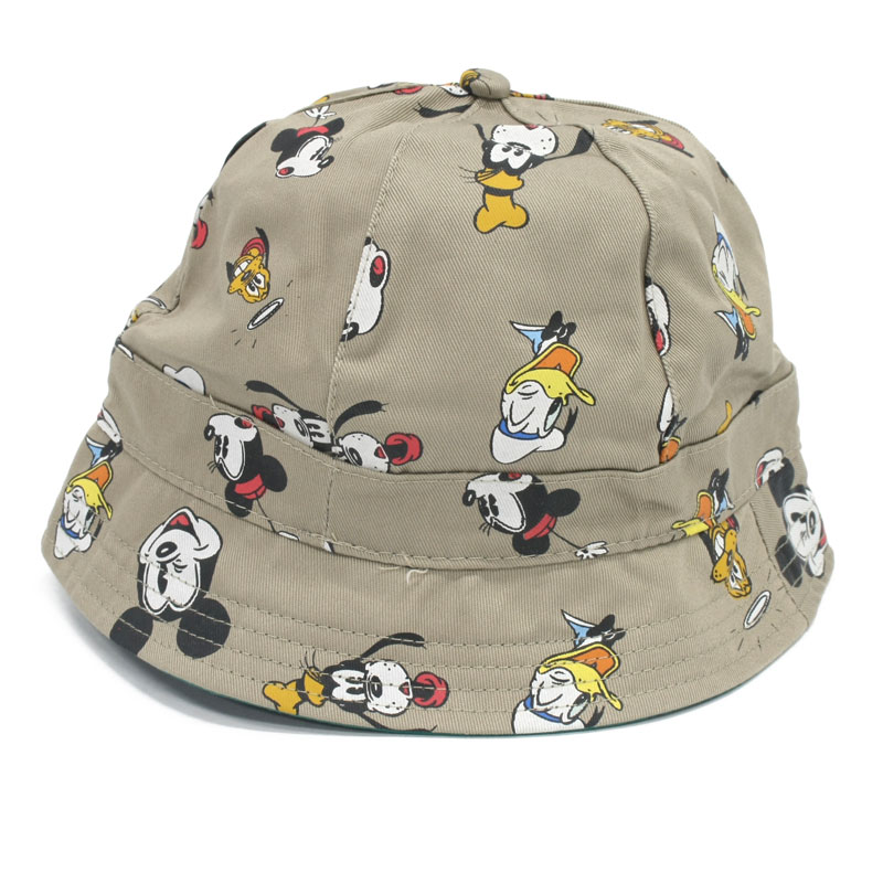 Disney Club Allover Print 6 Panel Sporty Hat Large - Khakhi 2