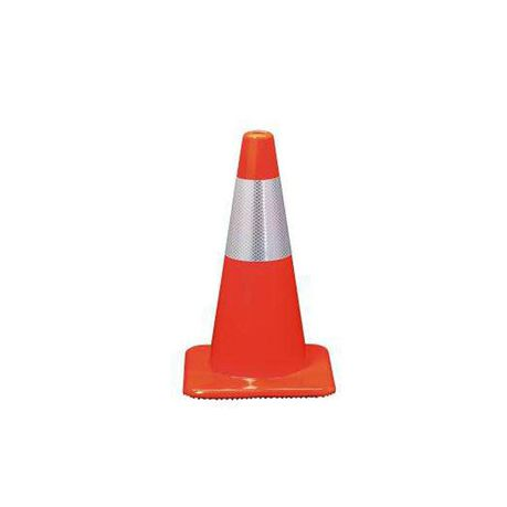 Traffic Cone Flexible Day-glow Orange With Reflective - 450mm 1