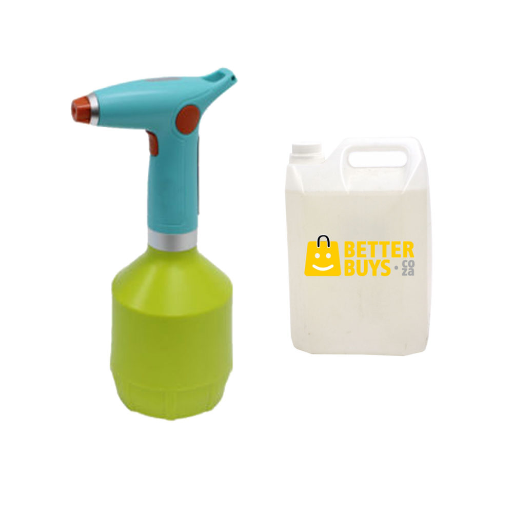 Electric Rechargeable 1 Litre Sanitizer Spray Dispenser with USB Charging & 5 Litre Disinfectant 1