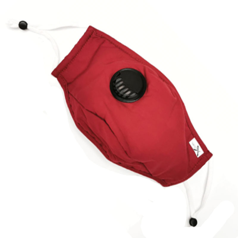 NanoX Red Fabric Face Mask by Nano Wave - Reusable and Washable with Replaceable Filter(One Filter Supplied) 1