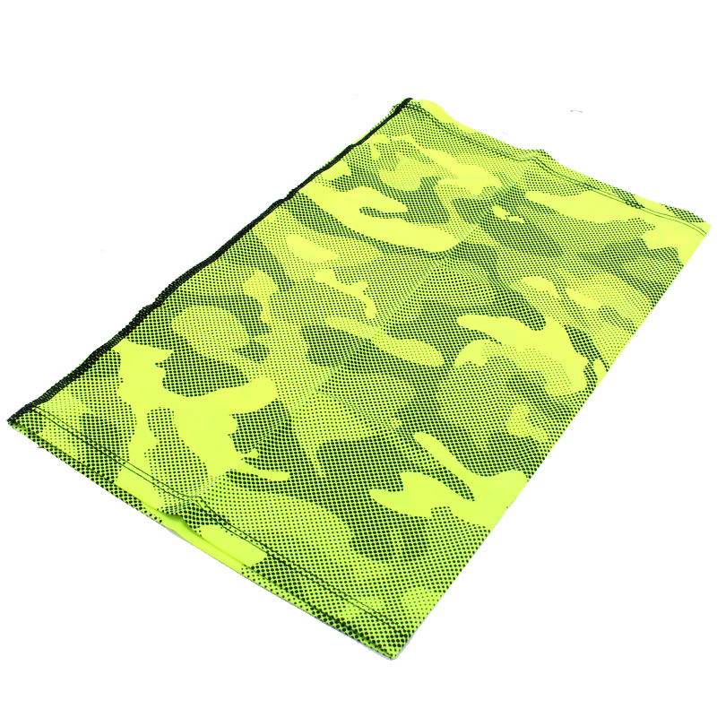 Sports Buff - Face Mask - Ice Cooling Fabric - Light and Comfortable - Camo Yellow 2