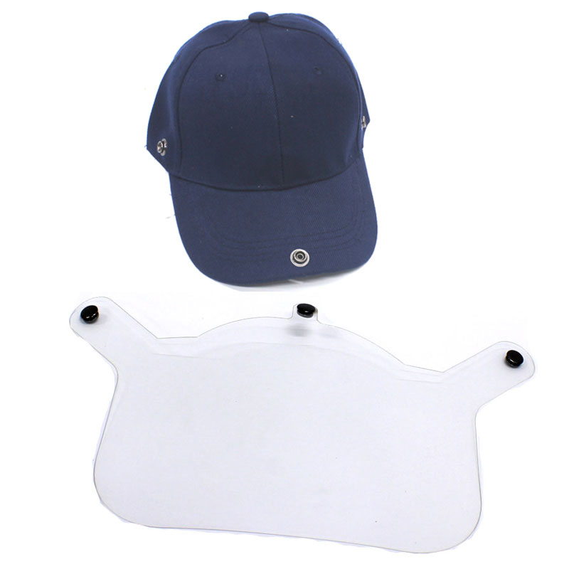 Face Shield Visor with Adults Adjustable Baseball Cap - Navy 1