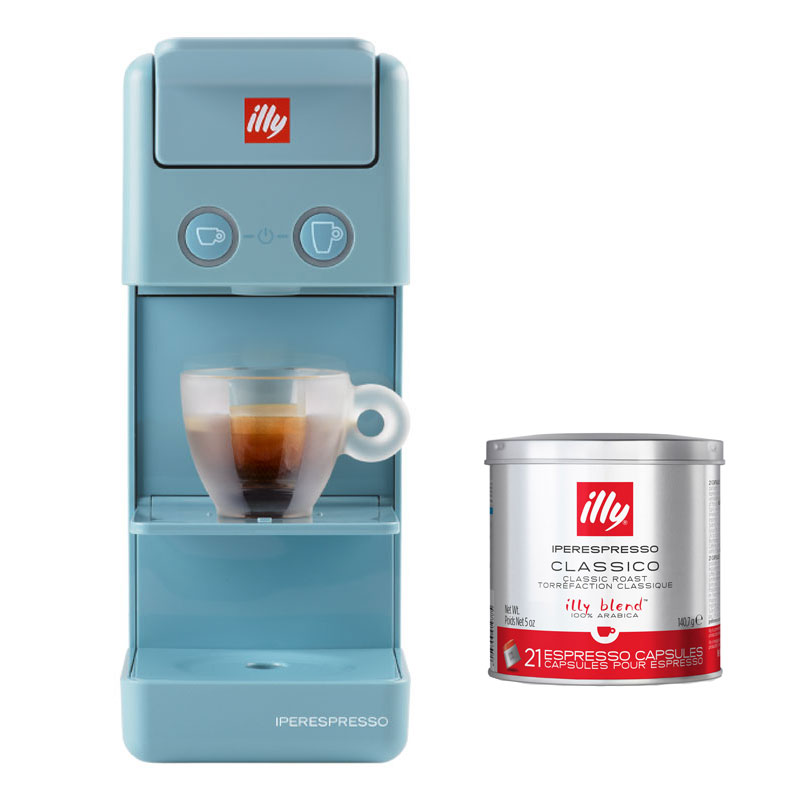 illy Francis Francis Y3.2  Hypo Espresso Capsule Machine - Blue with 21X Regular Hypo Capsules 1
