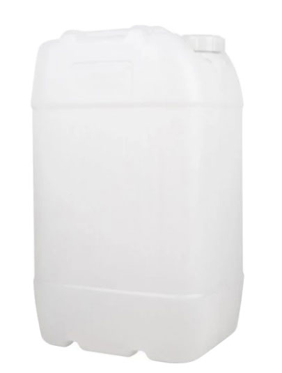 Empty Refillable Plastic Water/Fluid Can 25LT/Litre with Carry Handle on The Top 1
