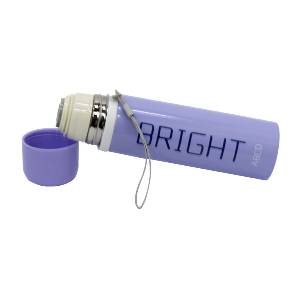Bright Vacuum Insulated Thermal Flask 500ML  -Perfect for keeping your Drinks Hot or Cold - Lilac 2