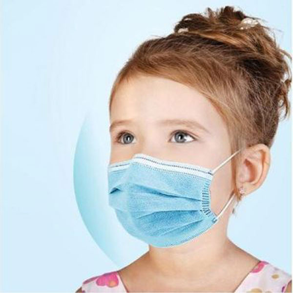 Kiddies Face Masks Disposable 3Ply Protective Safety Mask - Pack of 10 Yellow 2