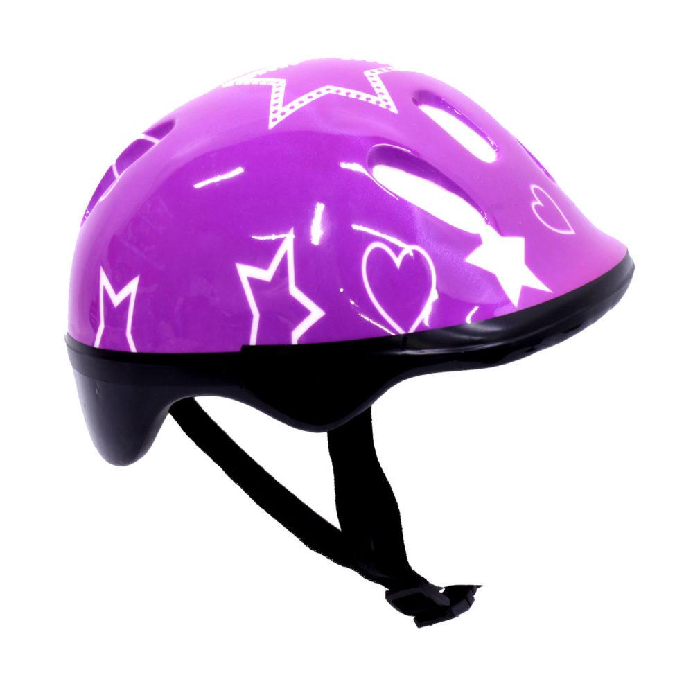 Helmet For Scooter - Bicycle/Bike Headpiece - Protective Kiddies Headgear - Purple 1