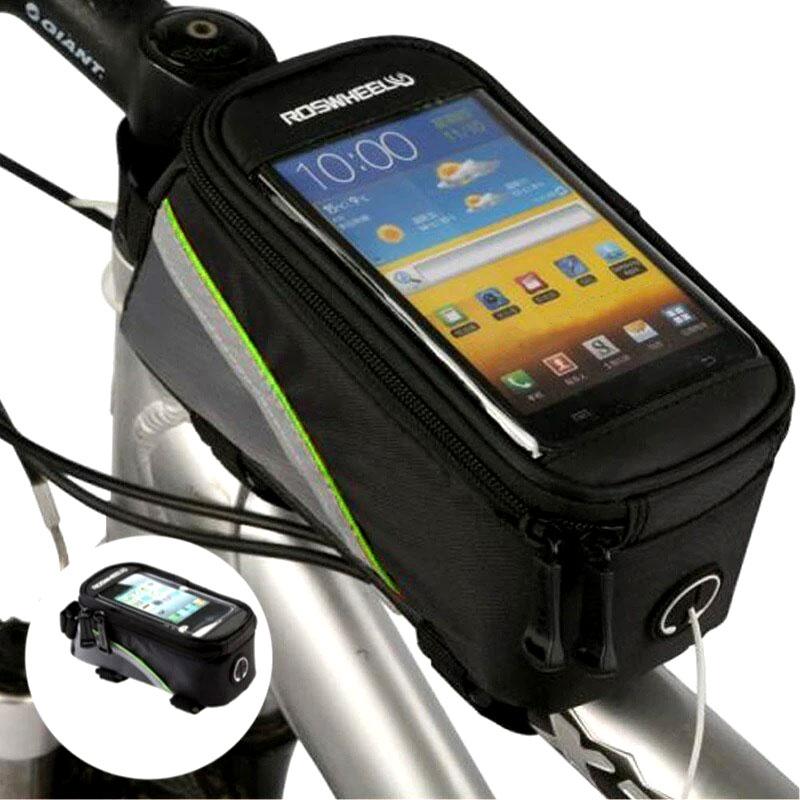 Phone Bicycle Holder & Storage Bag With Headset Jack - 3 Pack 3