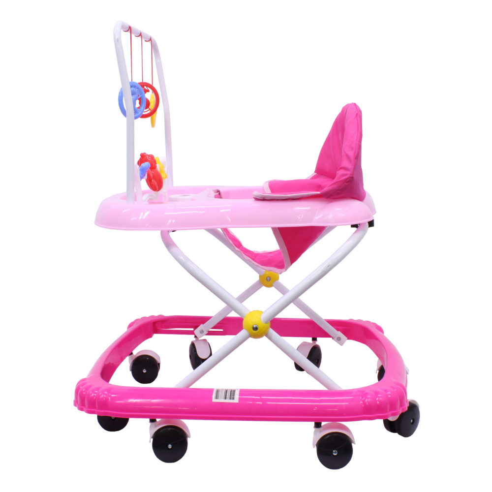 Walking Rings for Infants or Baby's - Foldable Walker - Toy Tray - Pink 3