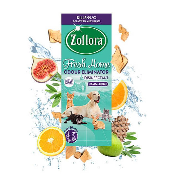 Zoflora Concentrated Disinfectant - Fresh Home - Coastal Breeze - Big Value 500ml - Makes 20 Litres 1