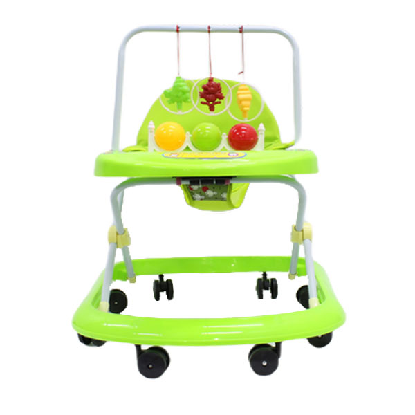 Walking Rings for Infants or Baby's - Foldable Walker - Toy Tray - Green 1
