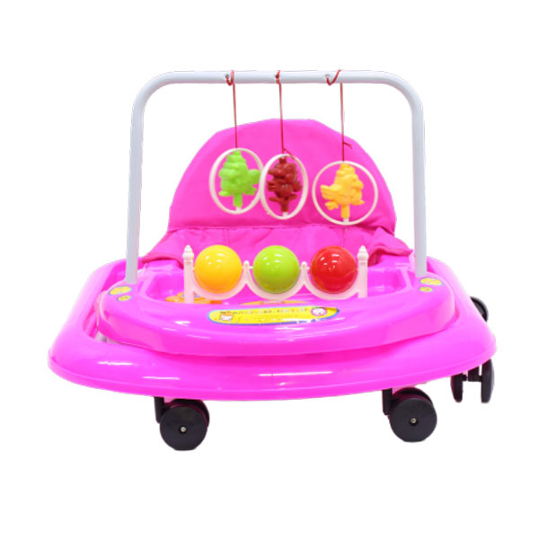 Walking Rings for Infants or Baby's - Foldable Walker - Toy Tray - Pink 2